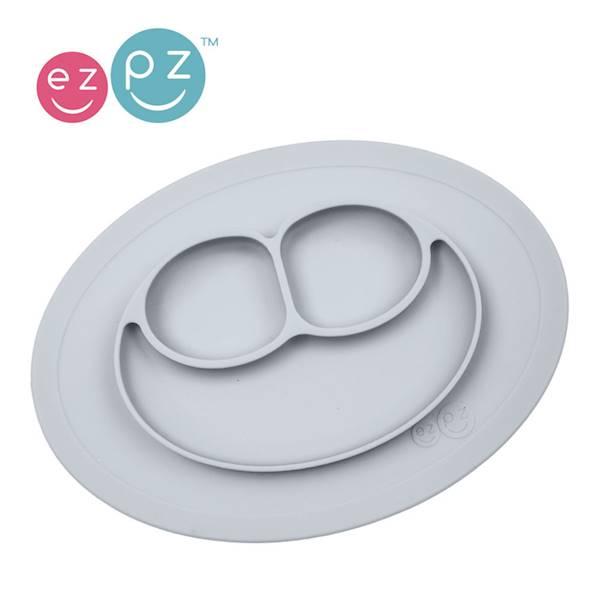 EZPZ - Silikonowy talerzyk z przyssawką 2w1 szary