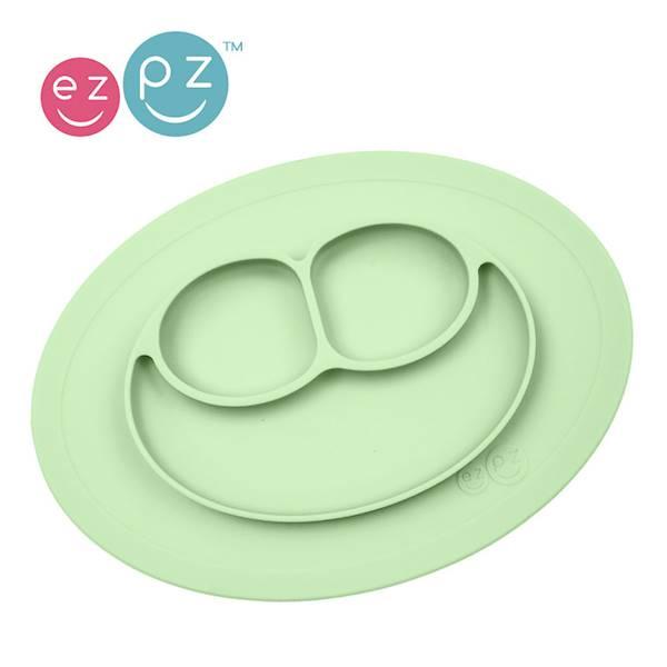 EZPZ - Silikonowy talerzyk mały zielony