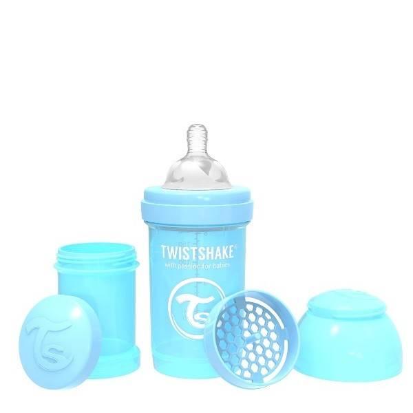 Twistshake - Butelka antykolkowa 180 ml niebieska