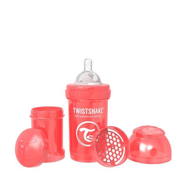 Twistshake - Butelka antykolkowa 180 ml p.czerwona