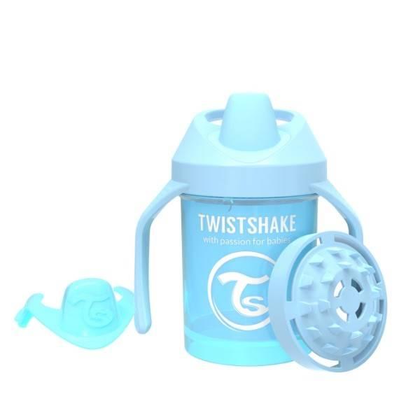 Twistshake - Kubek niekapek z uchwytami niebieski