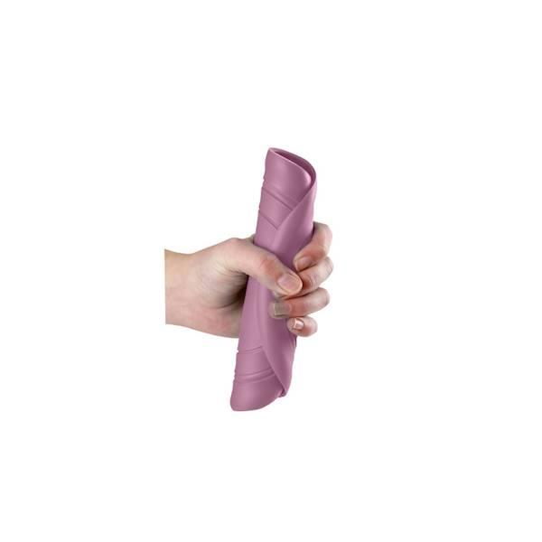 Scrunch - Silikonowe ringo Pudrowy róż