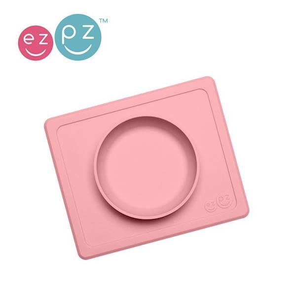 EZPZ - Silikonowa miseczka z podkładką róż