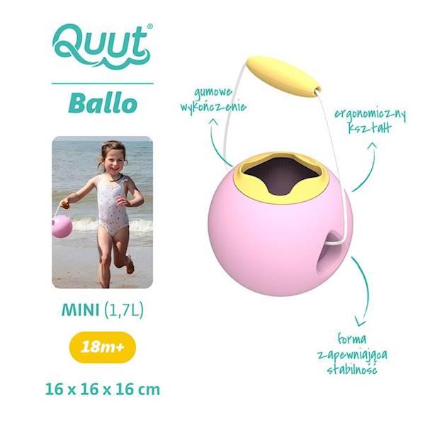QUUT - Małe wiaderko wielofunkcyjne Pink+Yellow