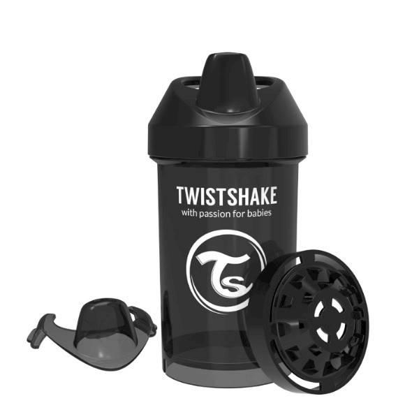 Twistshake - Kubek niekapek 300 ml czarny