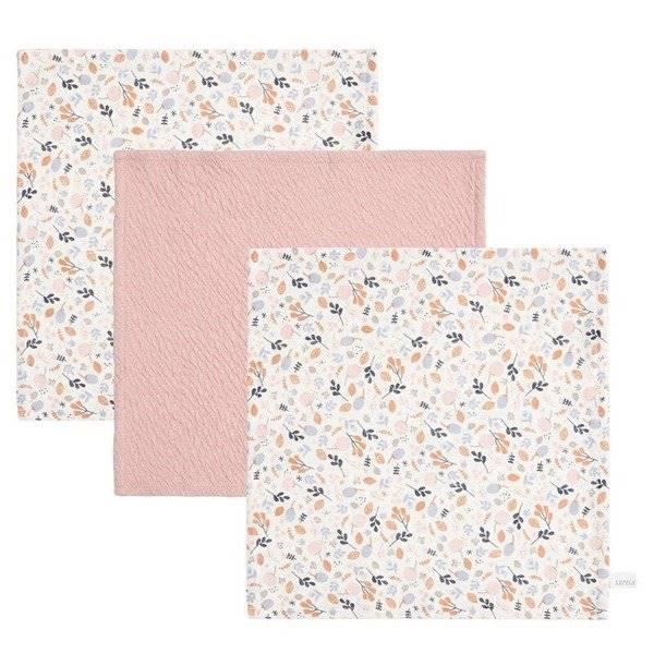 Little Dutch - Chusteczki Pure Pink/Spring Flowers