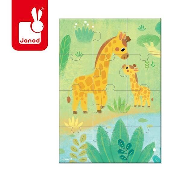 Janod - Mini puzzle do kolekcjonowania Żyrafa