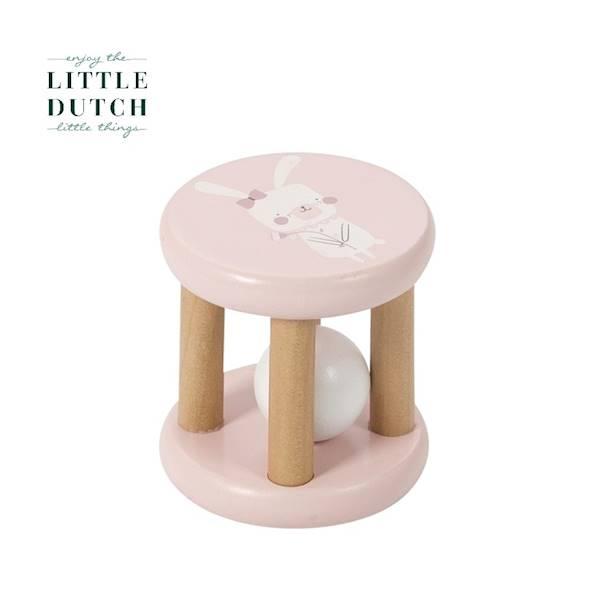 Little Dutch - Grzechotka drewniana różowa