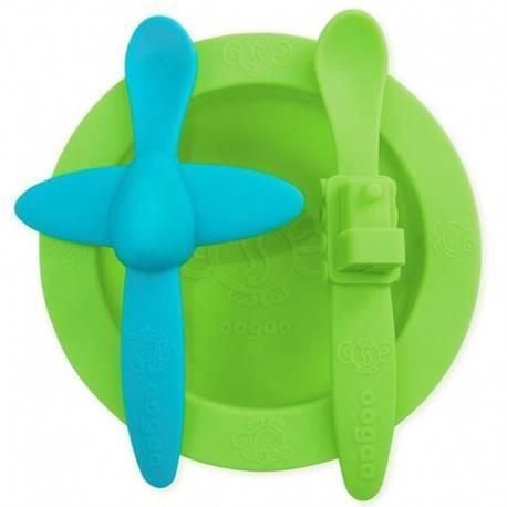 OOGAA - Silikonowy talerzyk z łyżeczkami