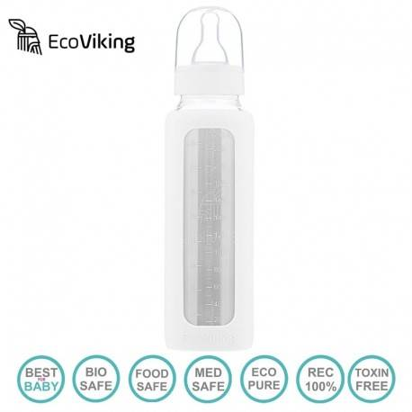 Eco Viking - Butelka szklana 240 ml White Mist