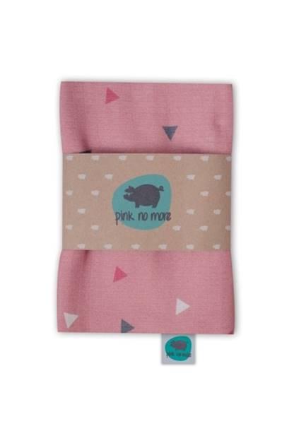 PinkNoMore - Otulacz muślinowy Trójkąty Róż