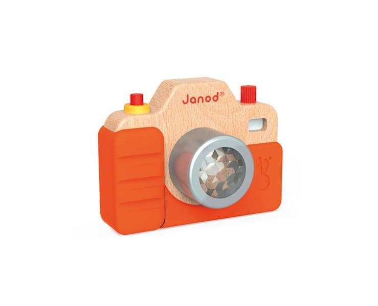 Janod - Drewniany aparat fotograficzny z dźwiękiem