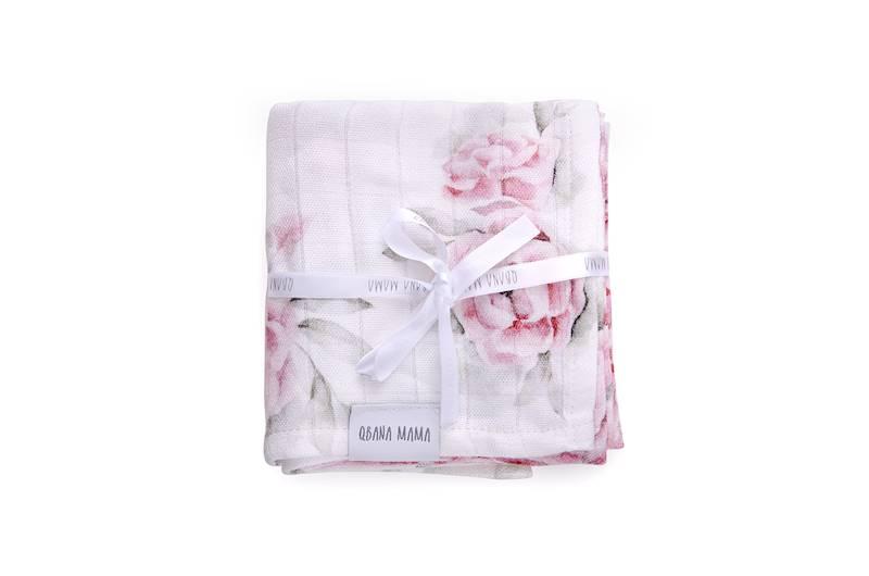 Qbana - 4-pack Chusteczki muślinowe In Blossom