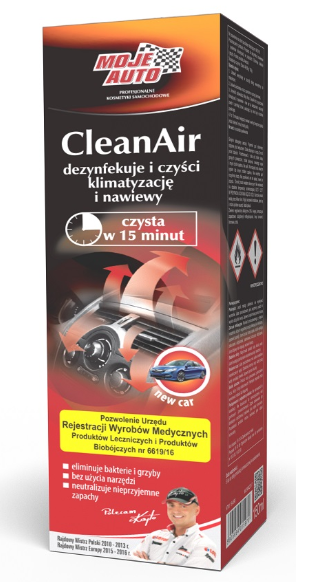 MOJE AUTO CLEAN AIR - NEW CAR