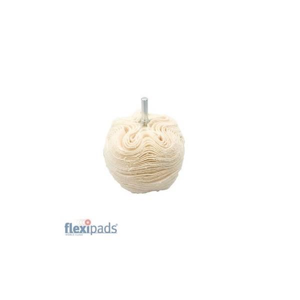 FLEXIPADS Kulka polerska 75/6mm z trzpieniem baweł