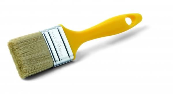 Pędzel płaski, żółty, 40mm