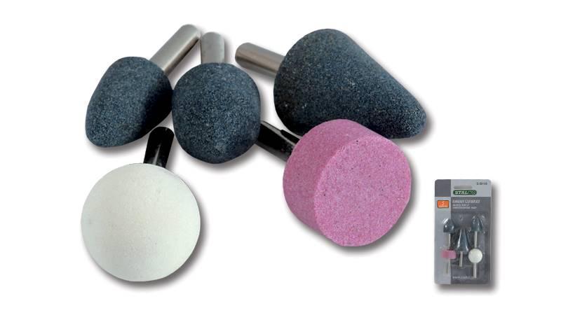 Komplet kamieni szlifierskich 5 elementów STALCO