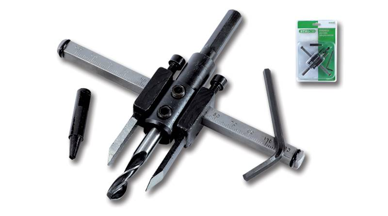 Otwornica - cyrkiel 30-120mm STALCO