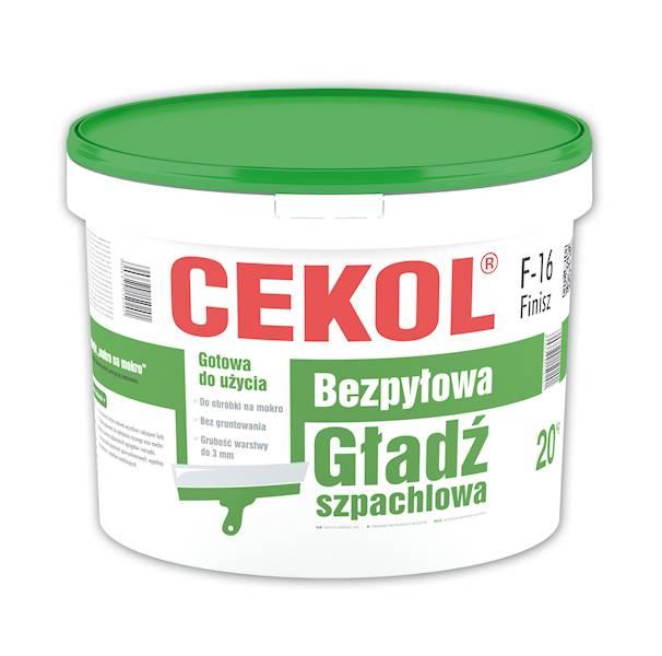 CEKOL F16 Gotowa bezpyłowa gładź szpachlowa 20 KG