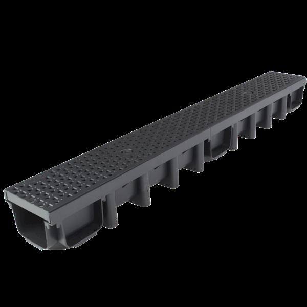 MAXPOL Kanał z kratką 1000x98 DECOR A 15 czarny