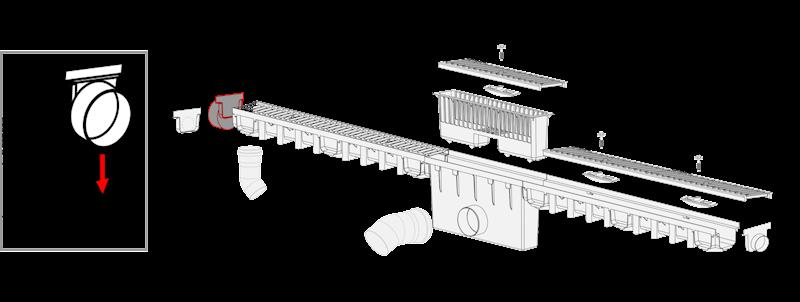 MAXPOL System 1000x98 odpływ fi 50