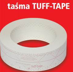 Taśma TT-TUFF TAPE do płyt k-g 30 mb (czerwona)