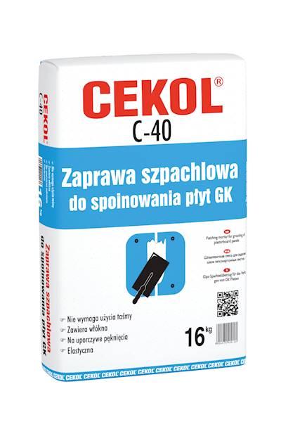 CEKOL C40 Szpachlówka do spoin 16 KG