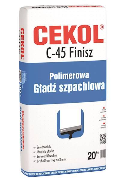 CEKOL C45 Szpachla Gipsowa Biała 20 kg FINISZ