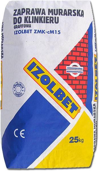 Zaprawa Izolbet do klinkieru grafit ZMK-cM15 25kg.