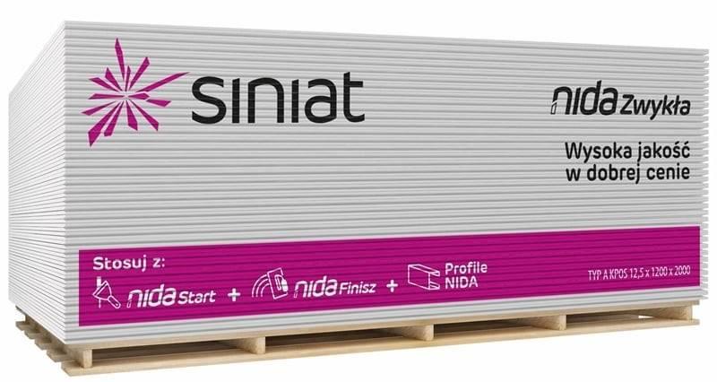 Płyta SINIAT 1200x2600x12,5mm zwykła