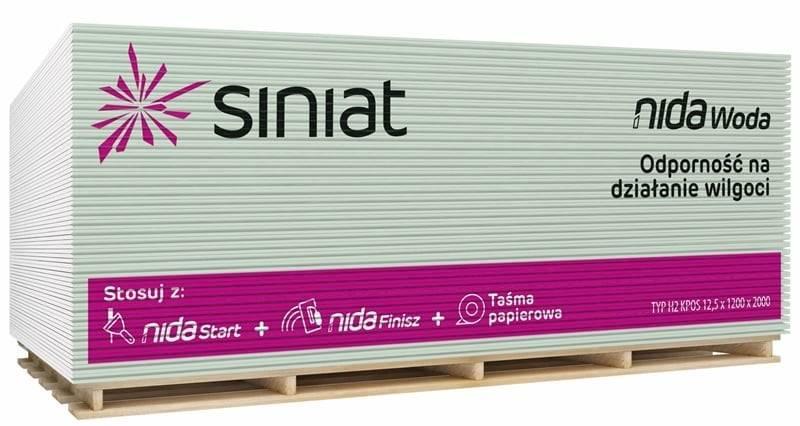 Płyta SINIAT 1200x2600x12,5mm wodoodporna