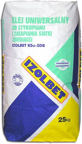 Zaprawa Izolbet klejowa do siatki BIAŁY 25 kg