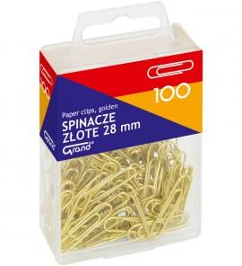 Spinacze 28 mm złote a'100 szt.