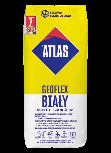 Atlas GEOFLEX BIAŁY - 25kg - wysokoelastyczny, żelowy, C2TE