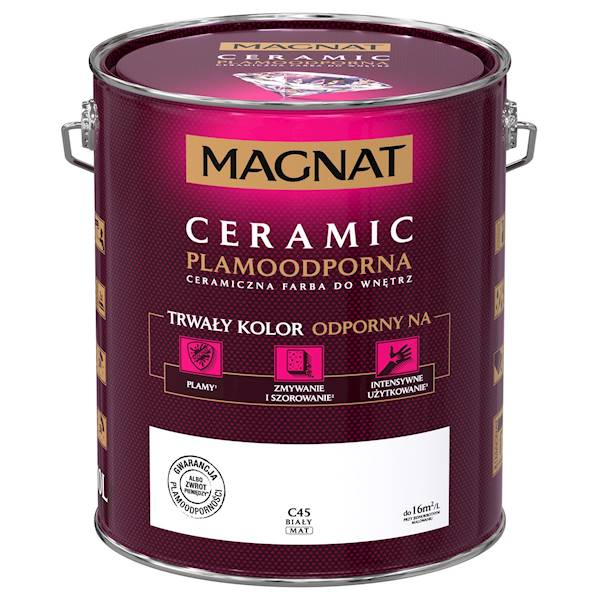C45 - 10L - biały - Magnat Ceramic - farba ceramiczna
