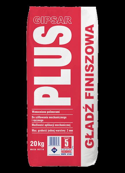 GIPSAR PLUS - 20kg - gładź finiszowa