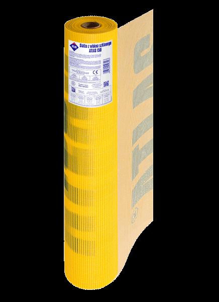 Atlas - SIATKA Z WŁÓKNA SZKLANEGO żółta - 150gr - rolka 50m - ETICS
