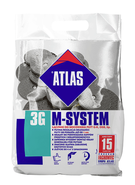 Atlas M-SYSTEM PP - L150 BX - M8/FI 6,5 - 21szt