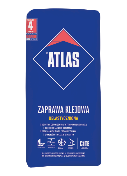 Atlas UELASTYCZNIONA - 25kg - zaprawa klejowa uniwersalny typu C1TE