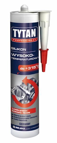 SILIKON wysokotemperaturowy - czerwony - 280ml - do +315°C - TYTAN PRO
