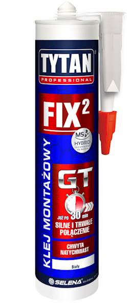 FIX² GT szybki i silny klej montażowy - biały - 290ml - TYTAN PRO