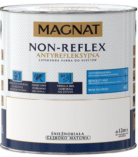 MAGNAT NON REFLEX - 2,5L - lateksowa farba do sufitów - GŁĘBOKO MATOWA