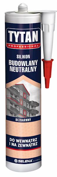 SILIKON Budowlany neutralny - bezbarwny - 280ml - TYTAN PRO