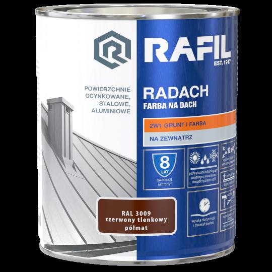 Rafil RADACH - 0,75L - RAL 7016 - półmat -  farba na dach - SZARY ANTRACYTOWY