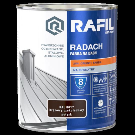 Rafil RADACH - 5L - RAL 7024 - POŁYSK -  farba na dach - SZARY GRAFITOWY • RAFIL RADACH farba na dach 5l połysk