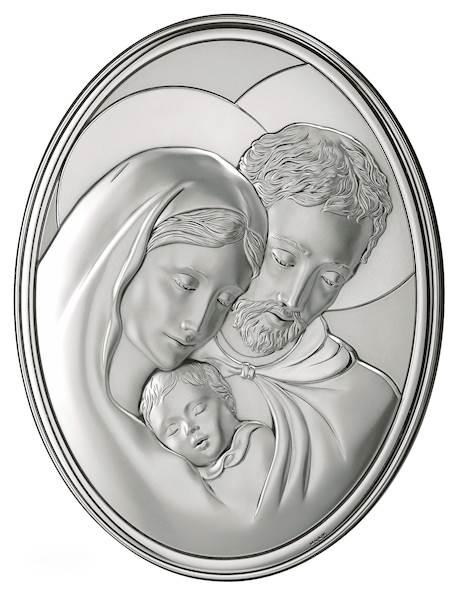Obrazek Srebrny Św. Rodzina Owal 9x13