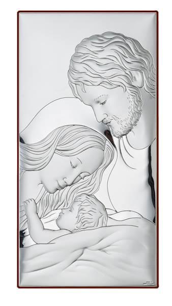 Obrazek Srebrny Św. Rodzina 9x17