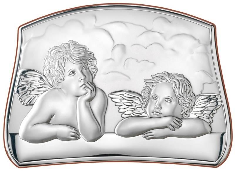 Obrazek Srebrny Aniołki Chmurka 14,6x9,6