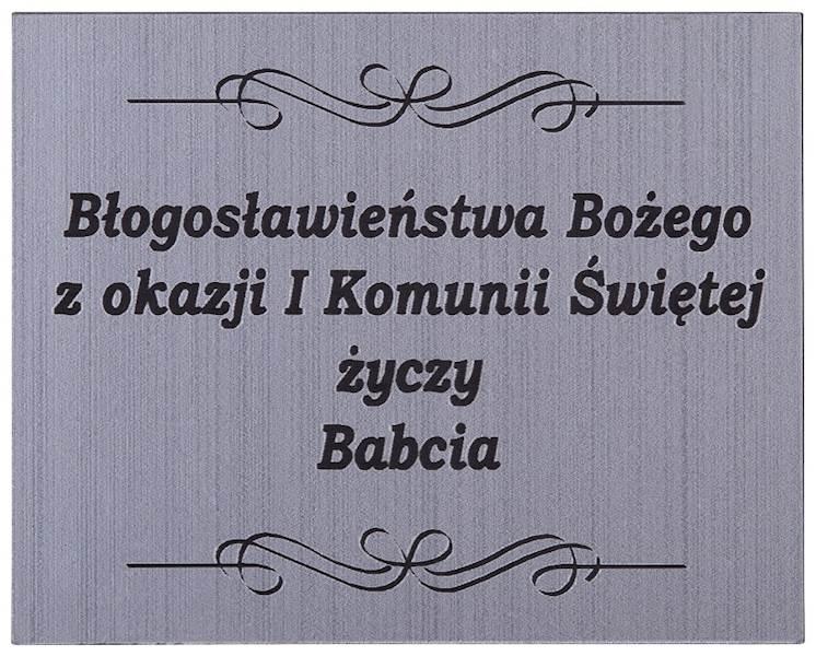 Tabliczka Grawerowana I Komunia Św. Babcia 5x4