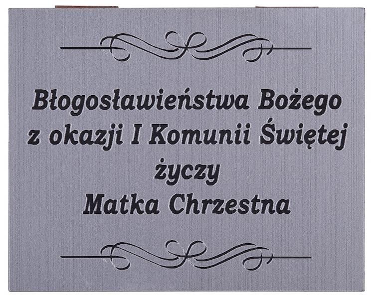 Tabliczka Grawerowana Komunia Matka Chrzestna 5x4